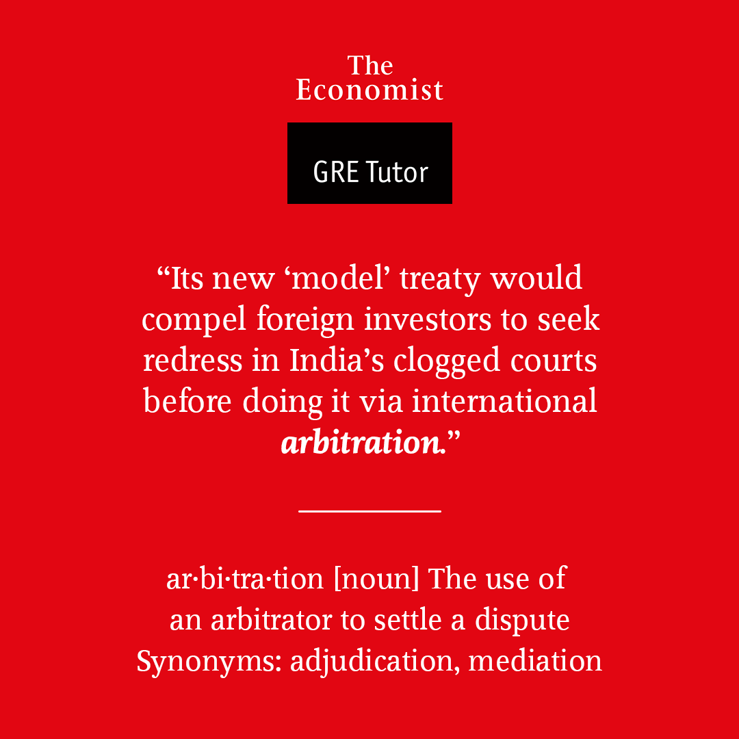 Arbitration - GRE Vocabulary word for Apr 14th 2017