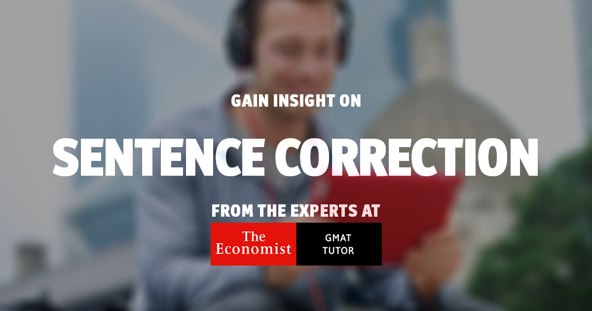 Gmat Sentence Correction Overview