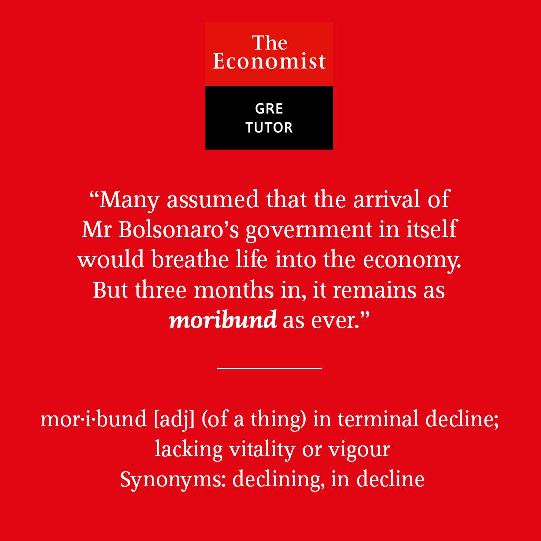 Moribund - GRE Vocabulary word for May 10th 2019